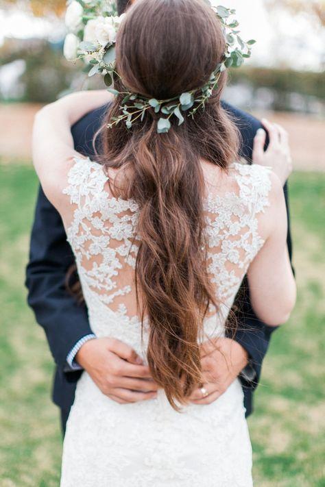 Lace Back Maggie Sottero Wedding Gown Phoenix Arizona Wedding
