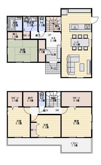 36坪4ldk全室南向きの間取り 新築間取り 間取り 家