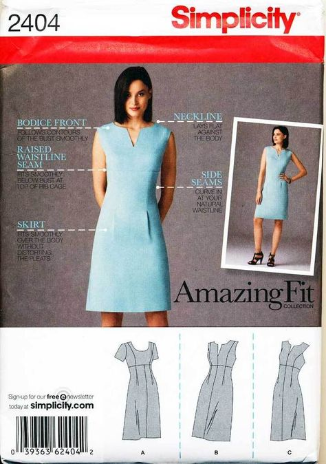 Simplicity 2404 Misses/'//Miss Petite Dress With Variations /& Cup   Sewing Pattern