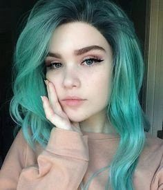Lace Front wig green brown hair green lolita wig green hair wig green – Aeshaper®   Your Secret To A Perfet Fit