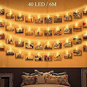 Led Bilder 40 Photoclips Mit Fernbed Qedertek Led Foto Lichterkette Für Zimmer