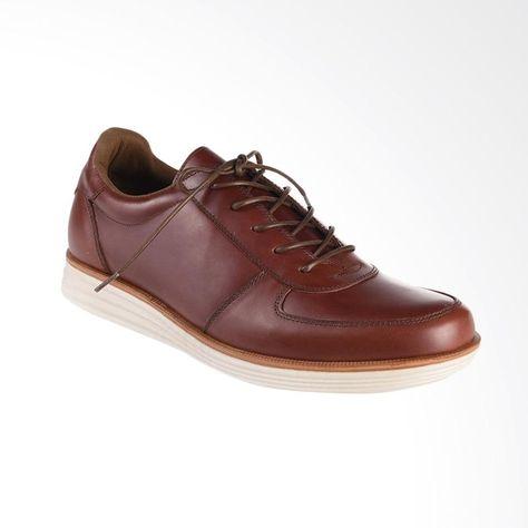 Blankenheim Sneakers Kulit Sepatu Pria Dark Brown Original