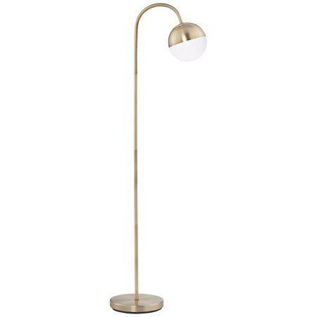 360 Lighting Carlton Antique Brass Glass Globe Led Floor Lamp Led Floor Lamp Glass Floor Lamp Unique Floor Lamps