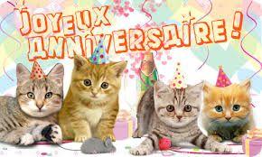 carte anniversaire chat qui chante Résultat de recherche d'images pour