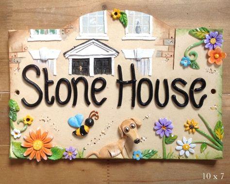 Personalised Ceramic House Door Number Name Sign