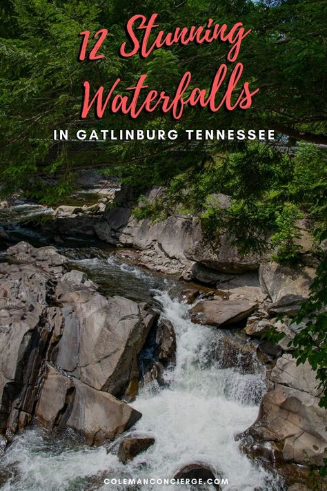 Hiking in Great Smoky National Forest is always beautiful, but better with a waterfall waiting for you! The six easy waterfall hikes in Gatlinburg are perfect for a half-day activity or string them together to form a waterfall tour. #GreatSmokyNationalForest #Gatlinburg #waterfalls #Tennessee #hiking #waterfallhikes