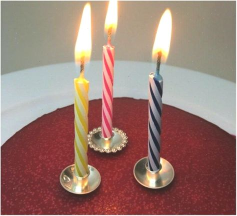 Stupendous Birthday Candle Holder In Sterling Silver Cake Decorating For Personalised Birthday Cards Arneslily Jamesorg