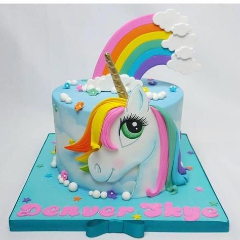 30 Sweet Ideas for a Party Unicorn #unicorncake
