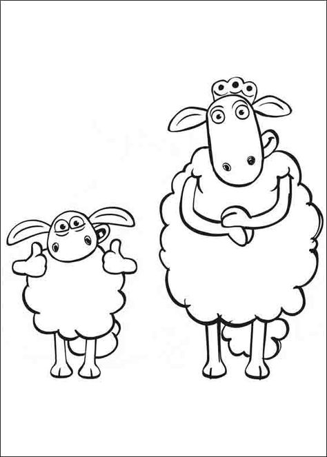 Shaun The Sheep Coloring Pages 9 Sevimli Fikirler Cizim Dogum Gunu