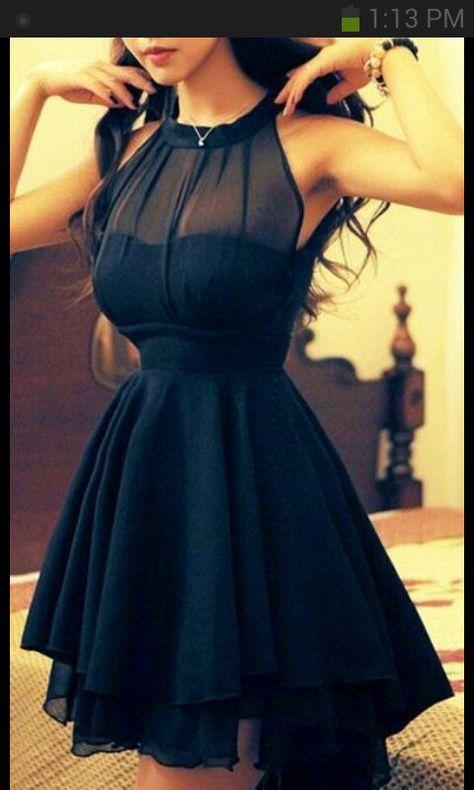 Prom Dress | pretty | black | Cute | Teal Blue Sea