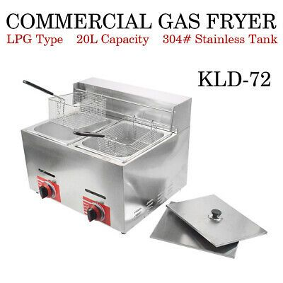 Details About Commercial Countertop Gas Fryer 2 Basket Gf 72