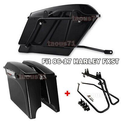Details About Fit 86 17 Harley Softail Vivid Black 5 Extended