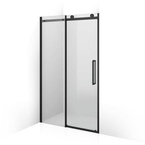 1200mm 8mm Designer Black Frameless Easyclean Sliding Shower Door Sliding Shower Door Sliding Shower Screens Shower Doors