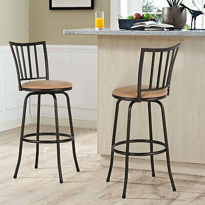 Advertisement 3 Pack Swivel Bar Stools Kitchen Adjustable Height Counter Dining Chair Bronze In 2020 Swivel Bar Stools Kitchen Bar Stools Kitchen Decor Modern