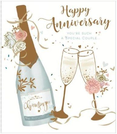 Happy Wedding Anniversary Champagne Special Couple New Uk Greetings Card Anniversary Congratulations Anniversary Cards For Couple Happy Wedding Anniversary Wishes