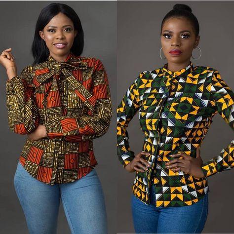 Trendy Ankara Shirts For Stylish Ladies; It's A Must Love