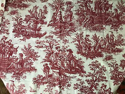 Waverly Country Life Country Weekend Red White Toile 55 X 28 1 4 Hemmed In 2020 Red And White Waverly Country Life