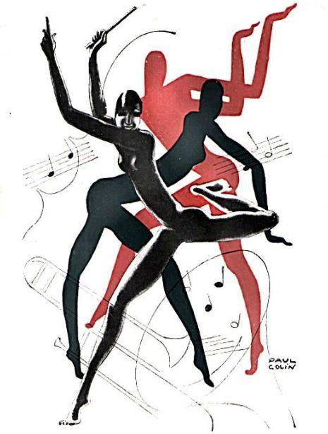 Casino de Paris poster by Paul Colin featuring cover art for a program featuring Josephine Baker.