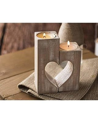 Valentine Candle Holder t light votive heart candle holder