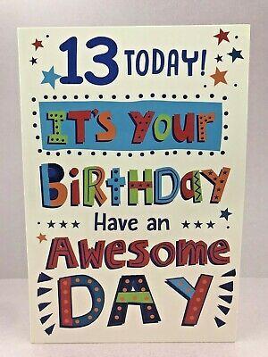 Happy 13th Birthday Card By Simon Elvin Age 13 Boy Card Teenager 5050933079968 Ebay Happy 13th Birthday Happy Birthday Teenager Happy Birthday Wishes Cards