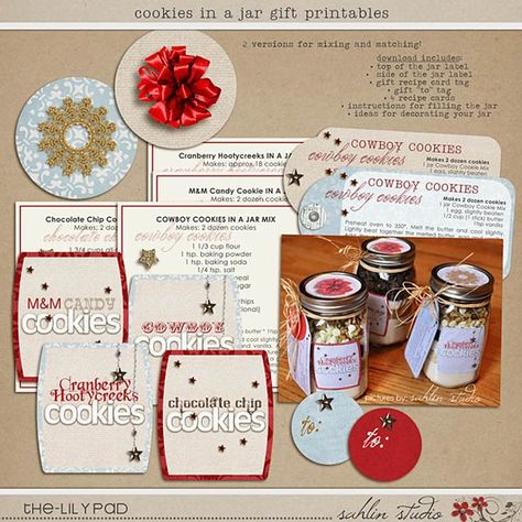 Cookies in a Jar Gift Printables for Christmas presents by sahlink, $4.00