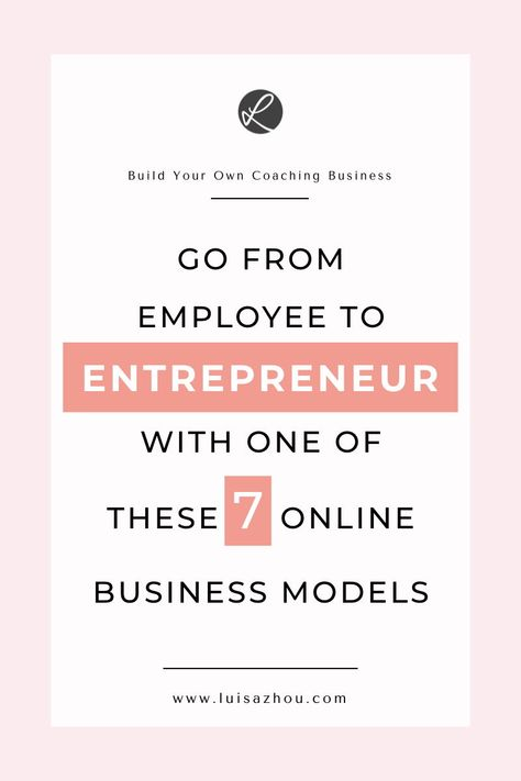 Are you sick of your job? Do you want to quit to start your own business? Here I will show you how to go from employee to entrepreneur with 7 easy business models to inspire you. #entrepreneurship #howtostartabusiness