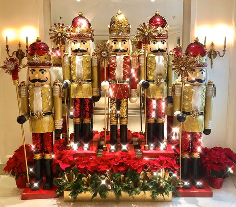 The stunning Nutcrackers at the Beverly Wilshire, Beverly Hills (A Four Seasons Hotel) #lovebevhills #nutcracker #christmas