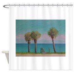 Flagler Beach View Shower Curtain By Admin Store Flagler Beach