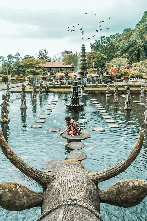 Tirta Gangga Water Palace also known locally as Taman Tirta Gangga, is a former water palace of Karangasem empire which one of east Bali's most famous sights.  Situated about 6 kilometres north of the town of Amlapura, which feature 1.2ha of pools, ponds