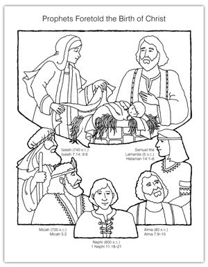 Year 01 Lesson 51 Prophets Foretold Christ S Birth Lds Coloring