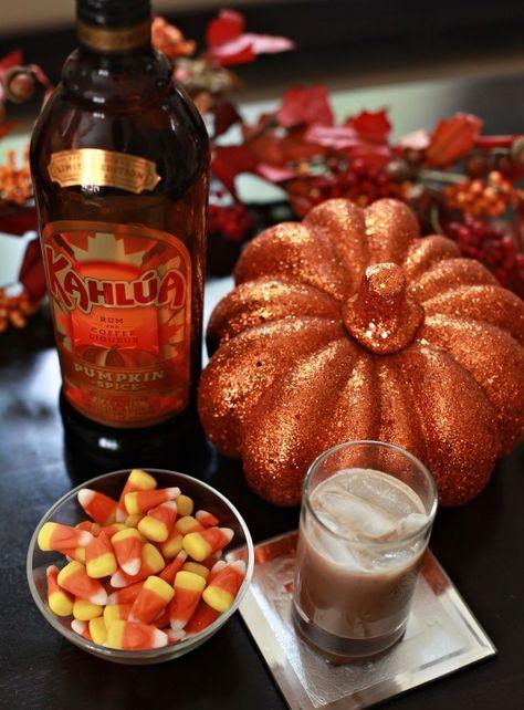 The yummiest Halloween cocktail, with @kahlua  Pumpkin Spice!