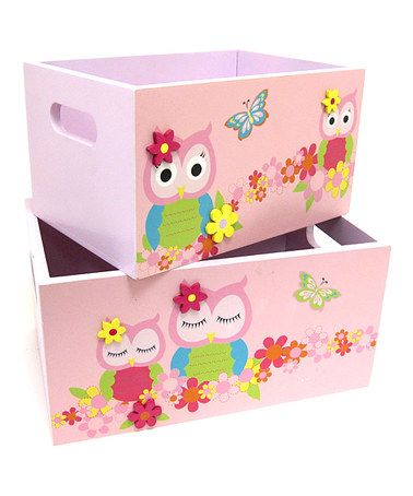 Take a look at this Pink Rectangular Storage Tote Set by Concepts on #zulily today!