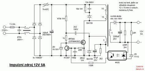 12v 5a Switched Power Supply Switched Mode Power Supply Electrical Circuit Diagram Power Supply
