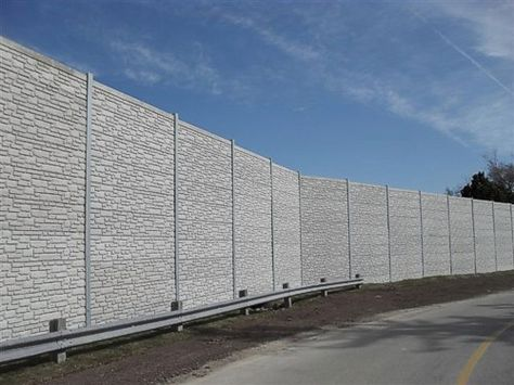 Noise Barrier Retaining Wall Project Gallery Design Concrete
