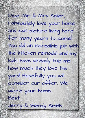welcome letter to home buyers