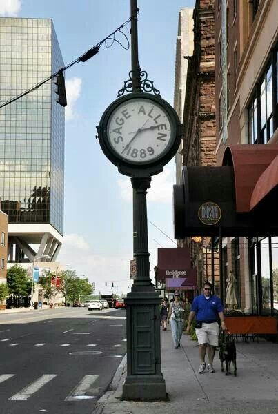 Long Ago In Hartford Sage Allens Clock Hartford Connecticut