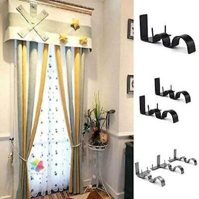 Curtain Rods Holders Bracket Into Window Frame Single Hang Curtain Rod Bracket