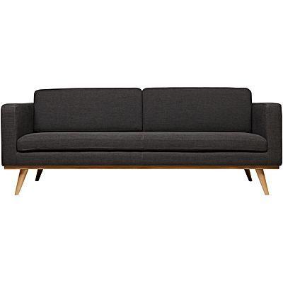 Otto 3 Seater Sofa, Black | Home | Pinterest