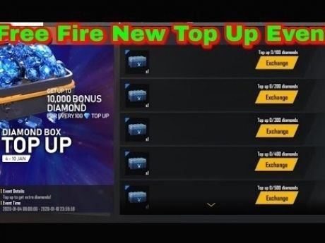 Free Fire New Event Diamond Box Top Up Get Up To 10000 In 2020 Diamond Box Fire Diamond