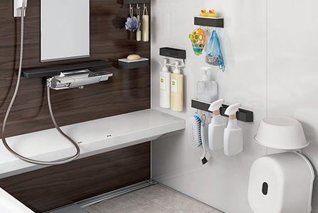豊富な収納 システムバス 浴槽 商品情報 タカラスタンダード 画像あり タカラスタンダード 収納 浴槽