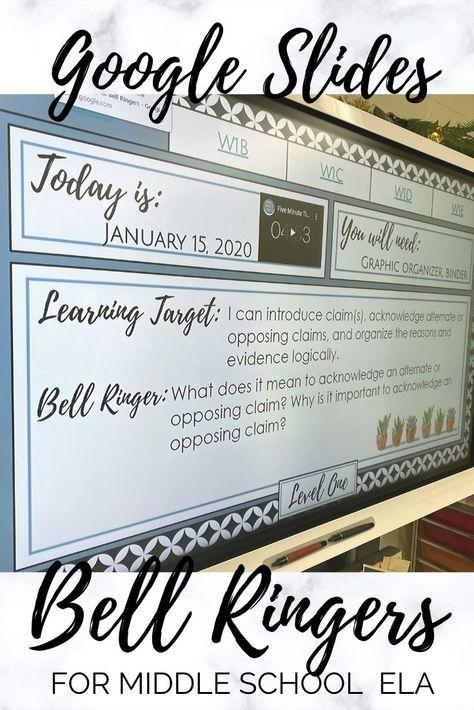 Digital Bell Ringers Mega Bundle for Middle School ELA | Bell ringers, Middle school ela, Middle sch