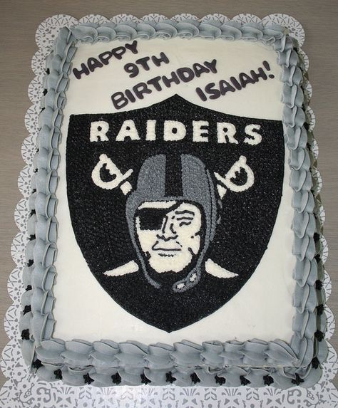 Raiders grooms cake...maybe with Red Stag and Modern Warfare on it too