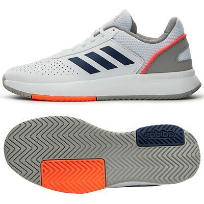 Adidas Courtsmash Men S Tennis Shoes Sports Athletic White Eg4375 In 2020 Tennis Shoes Sport Shoes Mens Tennis Shoes