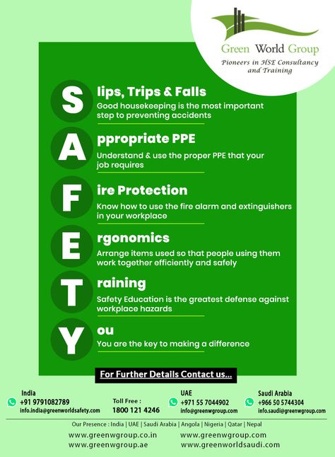 General Safety Tips Safety Courses National Safety Workplace Safety