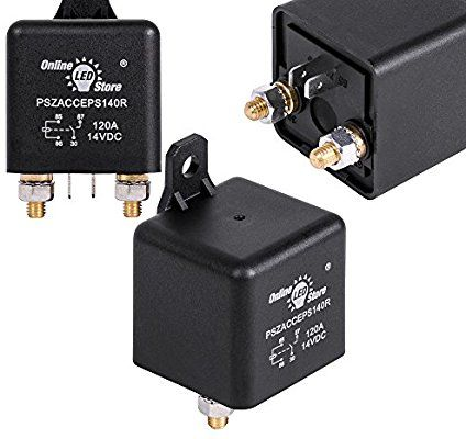 Amazon Com Online Led Store 12v Dc 120 Amp Split Charge Relay Switch 4 Terminal Relays For Truck Boat Marine Automotive Led Store Automotive Led