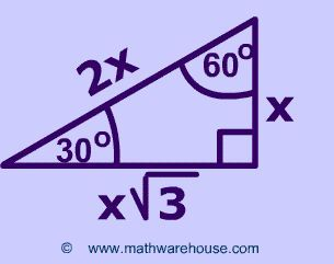 This Pin Shows The Special Triangle 30 60 90 Math Methods Studying Math Physics And Mathematics