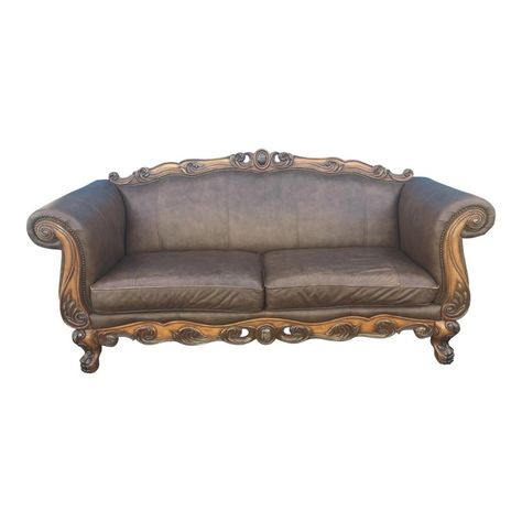 Prime Modern Ornate French Provincial Revival Leather Couch Creativecarmelina Interior Chair Design Creativecarmelinacom