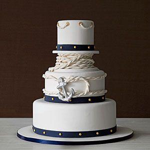 Coastal Wedding Cakes   Anchors Away   CoastalLiving.com