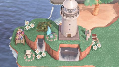 Amnesia Characters, Nintendo Switch Animal Crossing, Animal Crossing Guide, Island Theme, Garden Entrance, Small Waterfall, New Leaf, South Park, Alien Logo