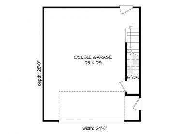 1st Floor Plan 062g 0027 Garage Plans Garage Plans With Loft Garage Plan